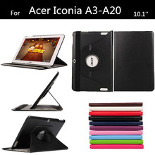 NEW A3 A20 Lichee Pattern PU Leather Case For Acer Iconia Tab 10.1''  A3-A20 Stand tablet cover +protectors+touch pen