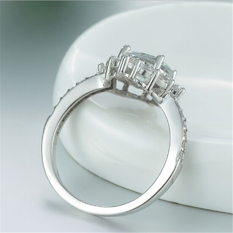 Limited edition Wedding ring Special moment for her Best gift Simple Top quality Silver Ring Engagement anel feminino 5