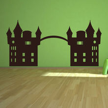 Fairy Tale Castle Wall Sticker Princess Bedroom Decorative Removable Vinyl High Quality Wall Decor Hollow Out(China)