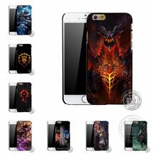 For Apple iPhone 7 4 4s 5 5s 6 6s plus New world of warcraft WOW theme designs printed plastic mobile phone case cover