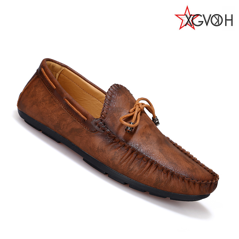 Men retro casual leather shoes Men boat shoes fashion slip on driving hombre loafers moccasins hjK67<br><br>Aliexpress