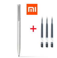 Buy 1 metal pen + 3 black ink Switzerland Refill MiKuni Japan Ink Original Xiaomi New Mijia Metal Sign Pen Mijia Signing Pen for $7.84 in AliExpress store