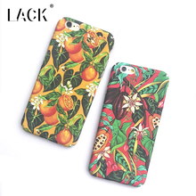 LACK Phone Case For iphone 6 6S Plus Cartoon Oil Painting Back Cover Colorful Fruit Orange Capa Cute Plants Flowers Leaf Cases