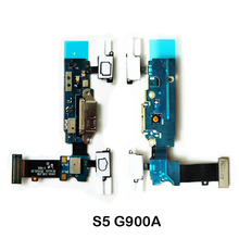 For Samsung Galaxy S5 G900A G900F G900L G900M G900S Original New Charging Port Dock Connector Micro USB Port Flex Cable