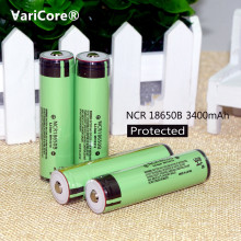 100% new original insurance ncr18650b 3400mah 18650 rechargeable battery pcb 3.7v panasonic flashlight batteries - Lan Ziyan store