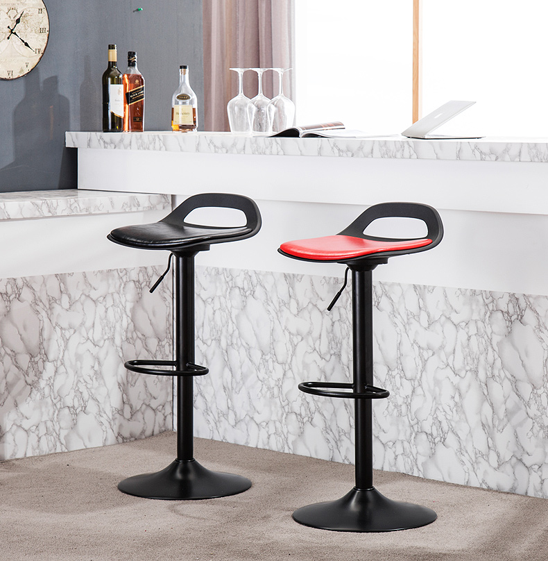 Furniture 2019 Latest Design Retro Fashion Real Wood European High Bar Chair Lift Swivel Chair At The Front Desk