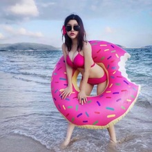 Inflatable Gigantic Doughnut Adult Swimming Ring Floating Row Pool Toy with Pump Water Game Pool Float toys for Adults80cm/120cm