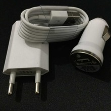 good quality eu USB Wall charger adapter + usb car charger + 8pin usb charging cable charger for iphone 5 5s 6 6s plus 7 se