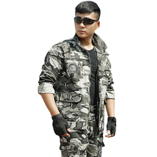 Buy Tactical Suit Military Marine Corps Soldier CS Camo Jacket + Pant Army Camouflage Clothing Mens Special Forces Cargo Clothes for $48.51 in AliExpress store