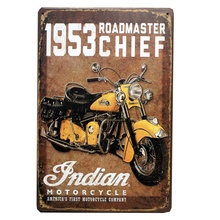 vintage vintage home decor Retro tin signs vintage metal signs painting 1953 rdadmaster chief indian motorcycle do the old paint