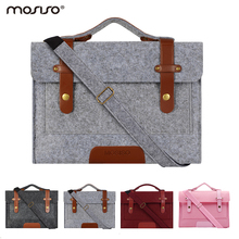 Mosiso Felt 13.3 15.6 inch Laptop Case Bag for MacBook Air 13 Pro 13 15 DELL ACER Asus HP Notebook Men Women Portable(China)