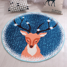 Bedroom Living Room Round Floor Mat Carpet Anti-slip Sofa Tea Table Rugs Mats Soft Bedside Footcloth Washable Cartoon Baby Pad(China)