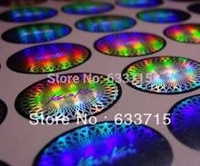 customized 3D gold hologram foil sticker label printing , free design ! void if removed(China)