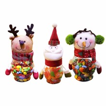 Hot Interesting Christmas Cute Snowmen Bear Dolls Sugar Cans Present for Children Funny Winter Direct Selling Xmas Hotel Home(China)