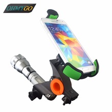 Motorcycle Bicycle Phone Holder Motor Bike Mount Stand Cradles for IPhone Samsung HTC etc Mobile Phone GPS PDA MP4 Flash light
