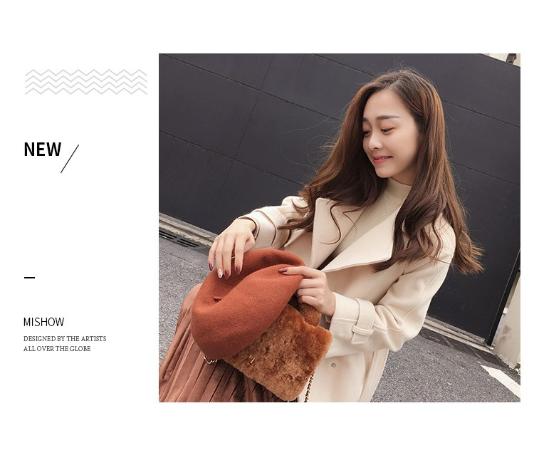 Mishow 19 autumn and winter woolen coat female Mid-Long New Korean temperament women's popular woolen coat MX17D9636 7