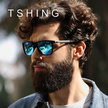 TSHING Mens Classic Polarized Sunglasses Men Women Fashion Brand Designer Vintage Square Driving Sun Glasses For Male UV400