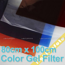 Photo Studio 4pcs/Set 80cm x 100cm Color Gel Filter Paper For Studio Video Lighting Photo Studio Accessories Hot Sales PAV9(China)
