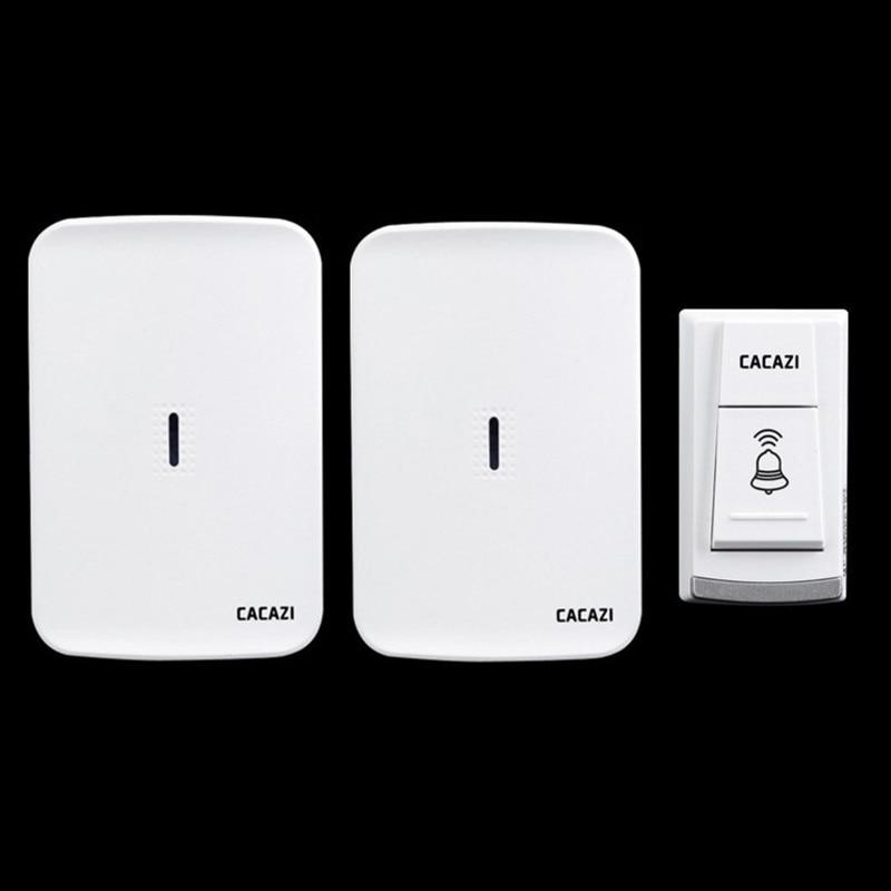 Wireless home electronic elderly DC battery pager move freely waterproof doorbell 1 transmitter+2 receivers wireless door bell<br>