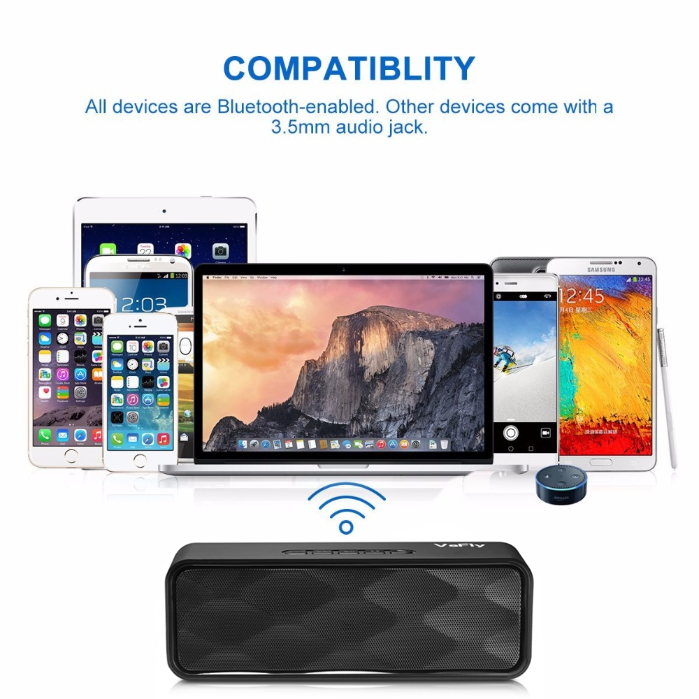VeFly 4.2 bluetooth speaker Hi-Fi portable wireless box, Mp3 music player receiver audio FM radio with USB AUX TF boombox column (3)