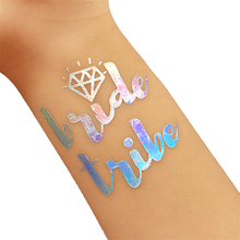 25Pc Bridal Shower Wedding Decoration Team Bride Temporary Tattoo Bachelorette Party Bride Tribe Flash Tattoos Bridesmaid Gift,Q