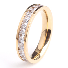 Stainless Steel Zircon Rings For Women With Fashion CZ Stone Bright Sliver Tone Ring  Ring Crown In Hot Sale