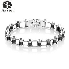 Jiayiqi Men Fashion Motor Bike Chain Bracelet Charm Stainless Steel Bracelet & Bangle Male Accessory for Men Jewelry Gift