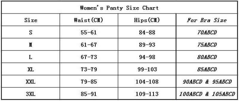 Panty Size Chart_