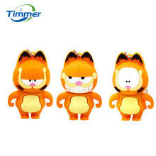 100% real capacity lovely cartoon Garfield cat 128MB 1GB 4GB 8GB 16GB 32GBUSB 2.0 Flash Drive pendrive thumb Car Key Memory Card