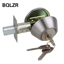 BQLZR Home Door Gate Single Cylinder Deadbolt Chrome Metal Dead Bolt Door Lock(China)