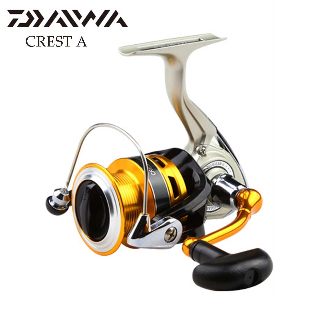 DAIWA CREST A SPINNING Fishing reel with Lightweight body 5.3:1 Durable gears 3+1BB Front Drag Carp Fishing reel aluminum spool<br>