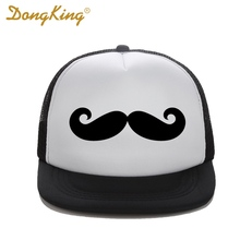DongKing New Fashion Trucker Hat Mustache Baseball Snapback Retro Vintage Funny Hipster Facial Hair Love Top Quality 8 Colors