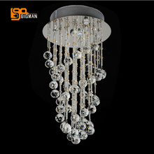 new design crystal spiral chandelier modern home lighting lustre deckenleuchten hallway lights