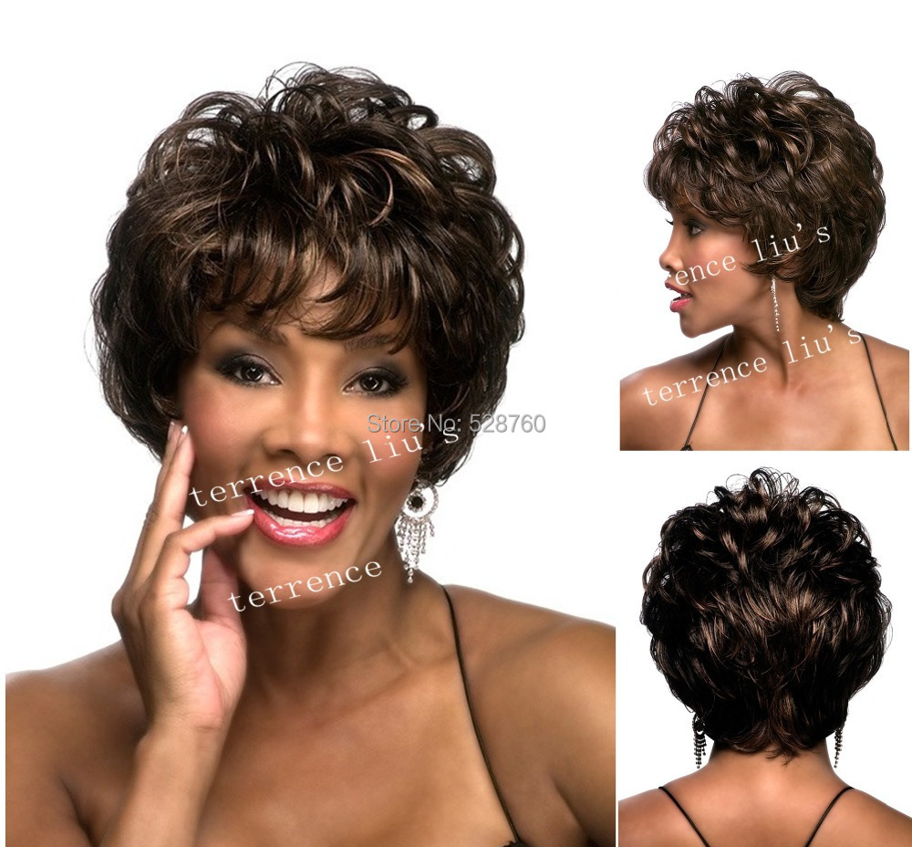 African American wig Joleen style short Fashion wig Synthetic wigs free shipping<br><br>Aliexpress