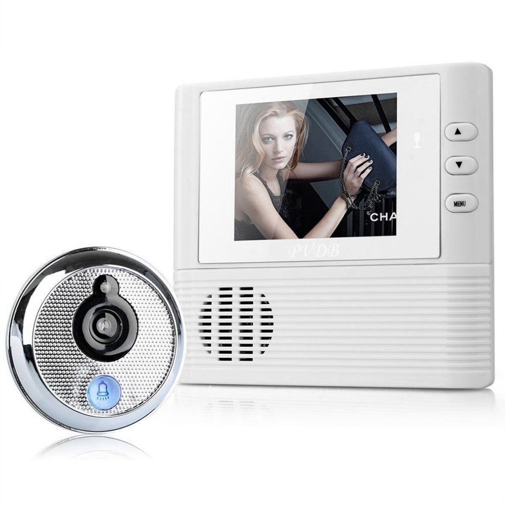 2017 Newest Digital Door Peephole Video Doorbell 0.3M Night Vision Video Record Home Security Wholesale<br>