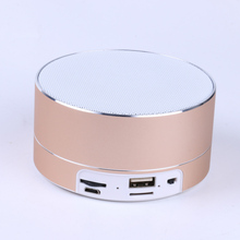 Hot Portable outdoor sports Bluetooth Speaker metal Subwoofer Wireless Speaker Ultra Mini Car Speakers for Smart  Mobile Phone