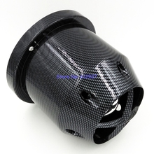 "Free Shipping: 3"" 76mm Inlet Carbon Fiber Looking Air Filter Racing Car Universal Air Intake Filters"