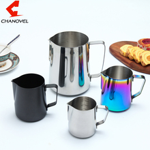 CHANOVEL 304 Stainless Steel Espresso Coffee Pitcher Craft Latte Milk Frothing Jug Appliance Measuring Cups(China)