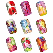 WUF 1 Sheet Optional Full Cover Nail Art Water Transfer Sticker Decals Wraps Tips Decorations For Nails Salon(China)