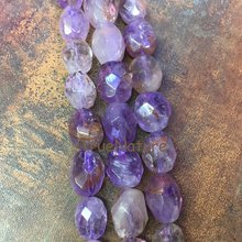 Natural Amethysts Stone, Oval Purple Amethysts Beads, Faceted Amethysts Large Nugget Beads Jewelry BE6510(China)