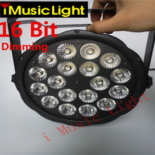 New 18X12W RGBW 4in1 16 Bit Dimming LED Par Cans Stage light Disco DJ Lighting DMX512 4/7CH