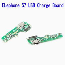 New Original usb plug charge board For Elephone S7 Mobile Phone Flex Cables charging module Microphone cell phone Mini USB Port(China)
