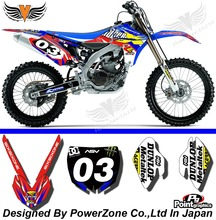 YZF 450 2010 2011 2012 2013 Team Graphics Backgrounds Decals Stickers  Motor cross Motorcycle Dirt Bike MX Racing Parts Racer03