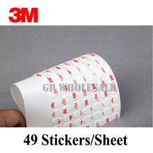3M VHB 4930 Die cutting high performance Double Sided acrylic Foam adhesive tape white color/10MM Circle/we can offer other size(China)