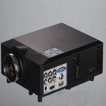 Free Shipping To Worldwide LED Home Projector 800*600 Support TV RED/BLUE 3D 1080P Projector With USB HDMI VGA Full