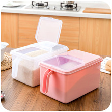 Superimposed clamshell plastic rice bucket sealed cans of whole grains storage box plastic storage box(China)