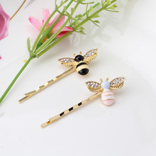 M MISM Cartoon Bees Crystal Wings Hairpins Designer Hair Clips Accessories Girls Barrettes Jewelry Women Alloy Ornaments(China)