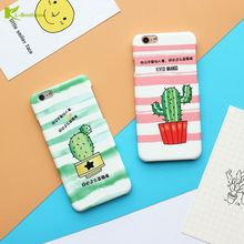 Funny Cactus Phone Case For iphone 8 Case Candy Color Vivid Maango Green Plants Back Cover Hard Cases For iphone8 7 7 Plus Case(China)