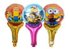 cartoon minions Blow rod blow stick balloons foil balloons party supplies decoration kids cheering sticks aluminum balloon(China)
