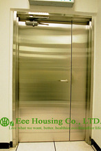 Chemical Resistant Stainless steel 90 min fire rated industrial hinged door(China)